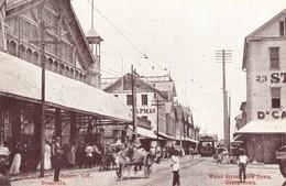 British Guiana, GEORGETOWN, New Town, Water Street, Tram (1910s) Postcard - Other