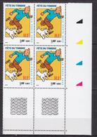 N° 3303 Fête Du Timbre Tintin Et Milou: Beau Bloc De 4 Timbres Impeccable Sans Charnière - Ongebruikt