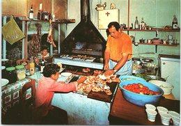 Making Shish-Kebab, Cyprus - Chypre