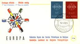 BELGIUM - BELGIO - 1959 - Europa - FDC. - FDC