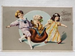 Bonne Année. Enfants, Cochon - New Year