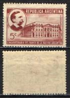 ARGENTINA - 1941 - 50° ANNIVERSARIO DELLA FONDAZIONE DELLA BANCA NAZIONALE - CARLOS PELLEGRINI - MNH - Nuovi