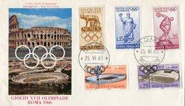 ITALY 1960 F.D.C.  Olympic Games.BARGAIN.!! - 1946-.. Republiek