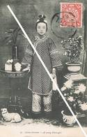 TIEN-TSIN (Chine)-Jeune Chinoise-A Young Chinese Girl - Timbre Chinois Yvert Et Tellier N°77 - China