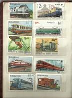 "3148 "" TRENI-142 FRANCOBOLLI DIVERSI,VARIE NAZIONI "" TEMATICA FERROVIARIA -ORIGINALI - Trenes"