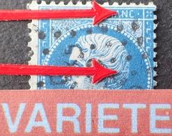 R1917/125 - NAPOLEON III N°22 - GC 3352 : SEDAN (Ardennes) - VARIETE ➤➤➤ N De FRANC Barré + épine Dans La Chevelure - 1862 Napoléon III.