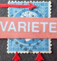 R1917/126 - NAPOLEON III N°22 - GC 2145A : LYON LES TERREAUX - VARIETE ➤➤➤ Barre Sous N De FRANC + 0 Incomplets - 1862 Napoleon III