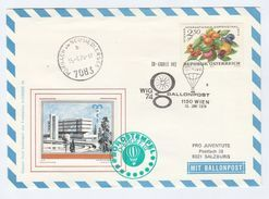 1974 AUSTRIA BALLOON FLIGHT COVER With WIG74 Label Stamps Ballooning - Balloon Covers