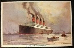 TRANSATLANTICI - CUNARDER A SOUTHAMPTON - Barche