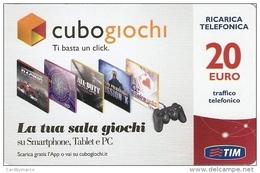 *ITALIA: TIM: CUBO GIOCHI* - Scheda Usata (CGfc-20-P) - Italy