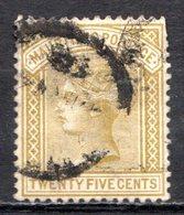 MAURICE - (Colonie Britannique) - 1879 - N° 61 - 25 C. Jaune-olive - (Victoria) - Mauritius (...-1967)