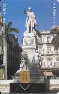 CARTE PUCE-CUBA-ETECSA--10USD -MONUMENT JOSE MADI-R°Glacé-UTILISE-TBE-RARE - Cuba