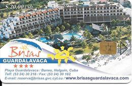 CARTE PUCE-CUBA-ETECSA--20USD -HOTEL GUARDALAVACA-R°Glacé-UTILISE-TBE-RARE - Cuba