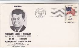 1963 Plewaski Brookline PRESIDENT KENNEDY BIRTHDAY EVENT COVER USA Stamps John F Kennedy - United States