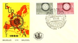 1960 - BELGIO - EUROPA - BUSTA FDC.+2 - FDC