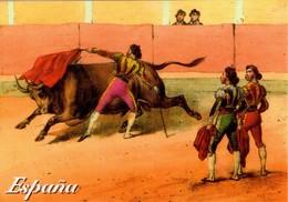 POSTAL DE ESPAÑA. 073 - PINTURA DE CORRIDA DE TOROS (379) - Corridas