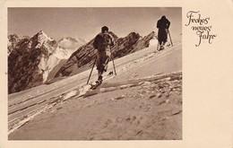 AK Frohes Neues Jahr - Skifahrer In Den Alpen - 1933 (40532) - Neujahr