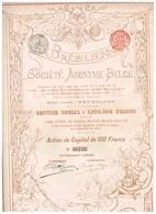 Titre Ancien - La Brésilienne Société Anonyme Belge - Titre De 1898 - Déco - Agriculture