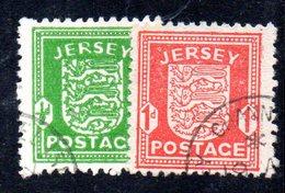 APR174 - JERSEY 1941 , La Serie Usata Dell'occupazione Tedesca  (2380A) . - Jersey