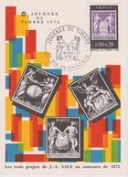 Carte Journée Du Timbre Aix En Provence 1976 - 1970-1979