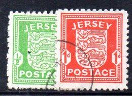 APR208 - JERSEY 1941 , La Serie Usata Dell'occupazione Tedesca  (2380A) . - Jersey