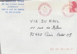 LSC 1989 - Cachet Rouge CORBENAY (Haute Saône) - Storia Postale