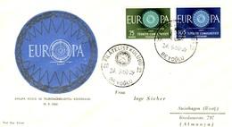 Turchia 1960 FDC EUROPA Mi.1774+1775. - 1921-... Repubblica