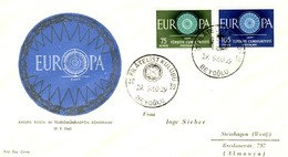 Turchia 1960 FDC EUROPA Mi.1774+1775. - 1921-... République