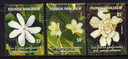 POLYNESIE - 652/654** - FLEURS PARFUMEES - Neufs