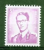 BELGIE Boudewijn Bril * Nr 1067b * Postfris Xx * WIT PAPIER - 1953-1972 Lunettes