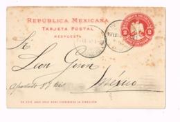 Entier Postal à 2 Centavos.Expédié à Mexico. - Mexique