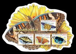 Azerbaïjan (KM) 2017 No. 109/12 Fauna. Butterflies MNH ** - Azerbaiján