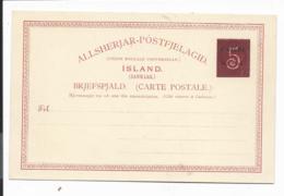 Island P 28** -  5 Aur A. 10 Aur Kte - Ganzsachen