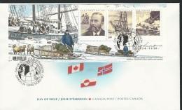 CANADA 2004 SCOTT 2027 SOUVENIR SHEET FDC VALUE US $3.60 - 2001-2010
