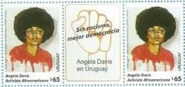 Uruguay 2019 ** Angela Davis. Filosofía.  Activista Feminista Y Politica Antirracista Norteamericana. Partido Comunista. - Celebrità