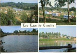 32240 ESTANG - Camping Caravaning Des Lacs De Courtès - Carte Publicitaire De L'établissement - Autres Communes