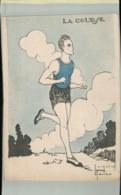 SPORTS- Sport LA COURSE   Illustrateur Jacques Robert -Edit  Comité Nationnal Des U. C. J. G. .AVRIL 001 2019  189 - Robert