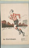 SPORTS- Sport LE FOOTBALL  Illustrateur Jacques Robert -Edit  Comité Nationnal Des U. C. J. G. .AVRIL 001 2019  189 - Robert