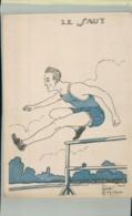 SPORTS- Sport  LE SAUT   Illustrateur Jacques Robert -Edit  Comité Nationnal Des U. C. J. G. .AVRIL 001 2019  195 - Robert