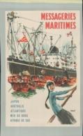 PUBLICITE MESSAGERIES MARITIMES (Japon Australie Atlantique Nord Afrique Du Sud) Illustrateur BRENET .AVRIL 2019  209 - Passagiersschepen