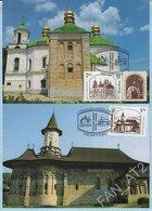 UKRAINE / Maxi Card. 2 Cards / FDC / Joint Release With Romania. Architecture. UNESCO. Churches. 2013. - Ukraine