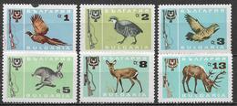 BULGARIA 1967 ANIMALI PER LA CACCIA YVERT. 1483-1488 MLH VF - Bulgaria