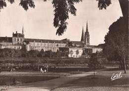 4239 CHARTRES LA CATHEDRALE ET L EVECHE VUS DU JARDIN CLOS ST JEAN - Chartres