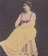 HARDING. COLORISE. CARD TARJETA COLECCIONABLE TABACO. CIRCA 1915 SIZE 4.5x5.5cm - BLEUP - Berühmtheiten
