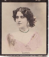 GUERERO. COLORISE. CARD TARJETA COLECCIONABLE TABACO. CIRCA 1915 SIZE 4.5x5.5cm - BLEUP - Célébrités