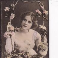 MAY. CIGARRILLOS FE. COLORISE. CARD TARJETA COLECCIONABLE TABACO. CIRCA 1915 SIZE 4.5x5.5cm - BLEUP - Berühmtheiten