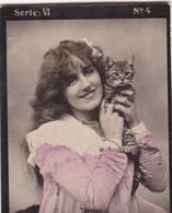 TERRIS ET CHAT. HABANILLOS LA PLATA. COLORISE. CARD TARJETA COLECCIONABLE TABACO. CIRCA 1915 SIZE 4.5x5.5cm - BLEUP - Berühmtheiten