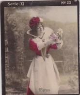 RIOTON. HABANILLOS LA PLATA. COLORISE. CARD TARJETA TABACO TABAK TOBACCO. CIRCA 1915 SIZE 4.5x5.5cm - BLEUP - Berühmtheiten