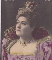 MRS RICHARD. CARD TARJETA TABACO TABAK TOBACCO. CIRCA 1915 SIZE 4.5x5.5cm - BLEUP - Berühmtheiten