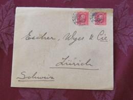 Sweden 1900 Cover Stockholm To Zurich - King Oscar II - Briefe U. Dokumente